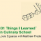 101 Things I Learned in Culinary School Book